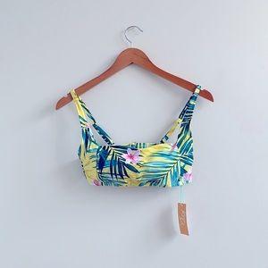 New Kona Sol Swim Floral Print Bikini Top